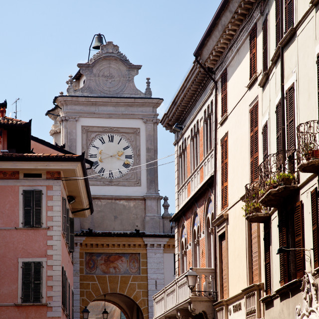 """""""Old bell tower in Salo"""" stock image"""