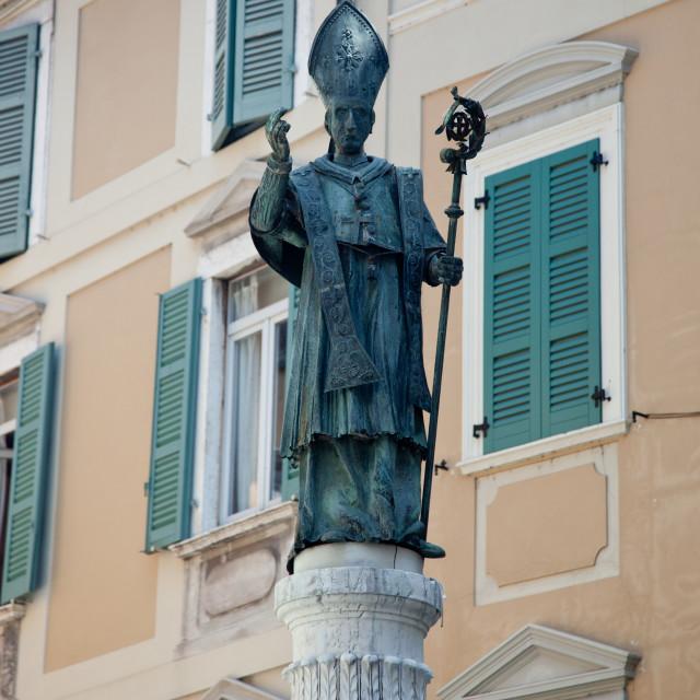 """Statue of Borremeo"" stock image"