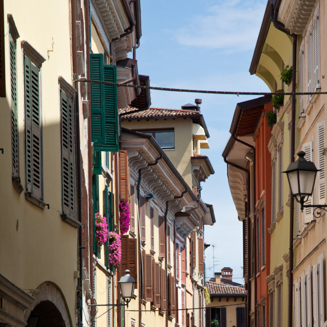 """""""Town streets of Salo"""" stock image"""