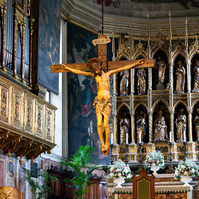"""""""Altar in Salo Cathedral"""" stock image"""