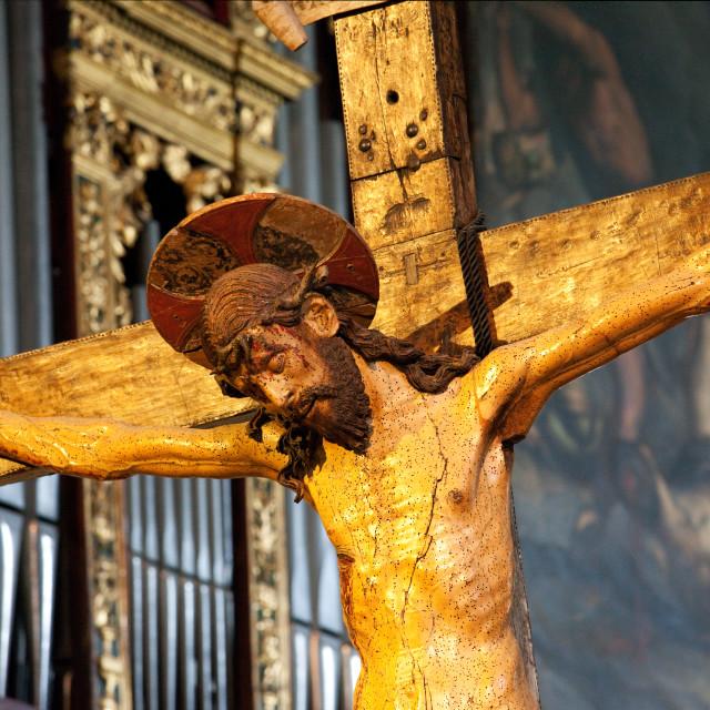 """Jesus on cross"" stock image"