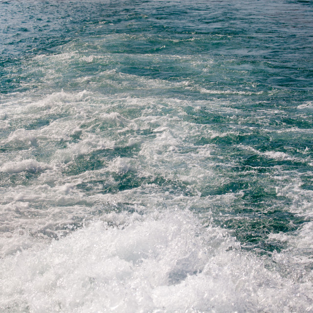 """""""Water behind ferry"""" stock image"""