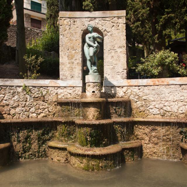 """Fountain in Gardone"" stock image"