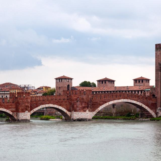 """""""Castel Vecchio bridge"""" stock image"""