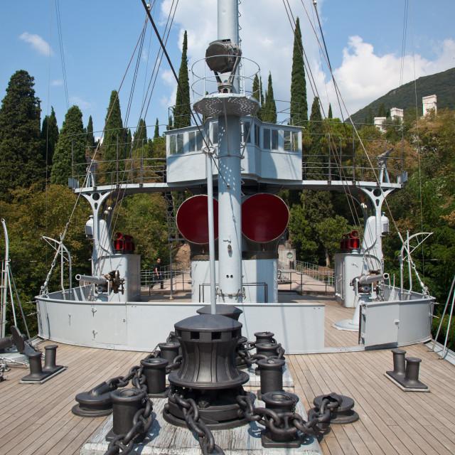 """""""Puglia Battleship on hillside"""" stock image"""