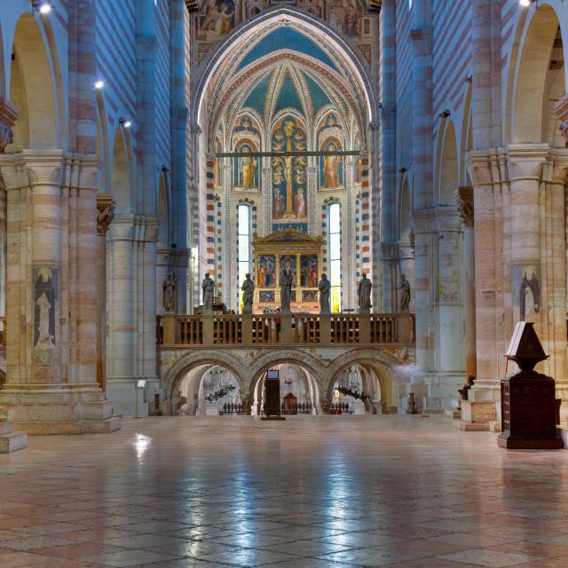 """Interior of San Zeno"" stock image"