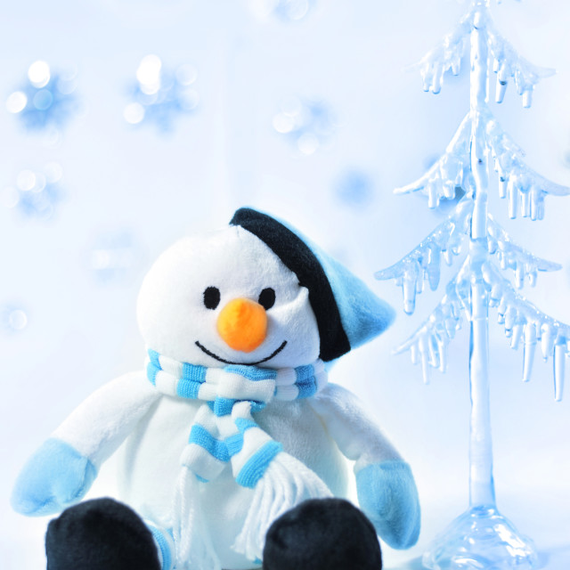 """""""Toy snowman."""" stock image"""