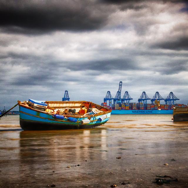 """Harwich Beach Part 1"" stock image"