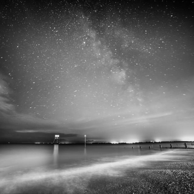 """Dovercourt Beach Milky Way"" stock image"