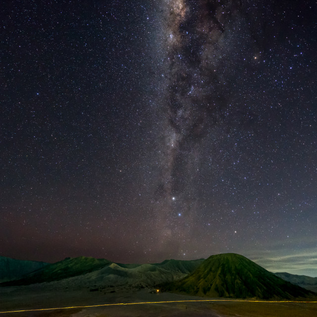 """Milky Way at Mount Bromo"" stock image"