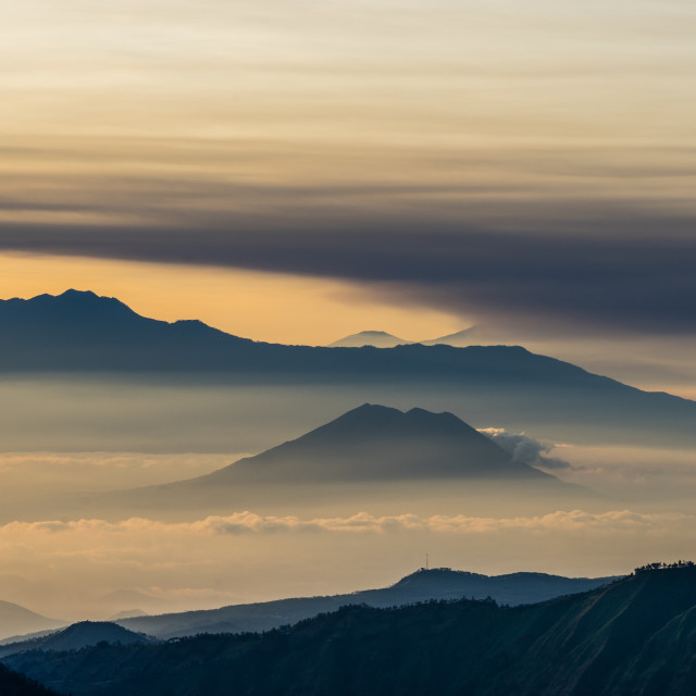 """Sunrise at Mount Bromo"" stock image"
