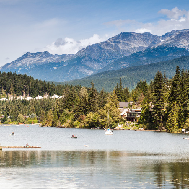 """Canada - Whistler - Alta Lake"" stock image"