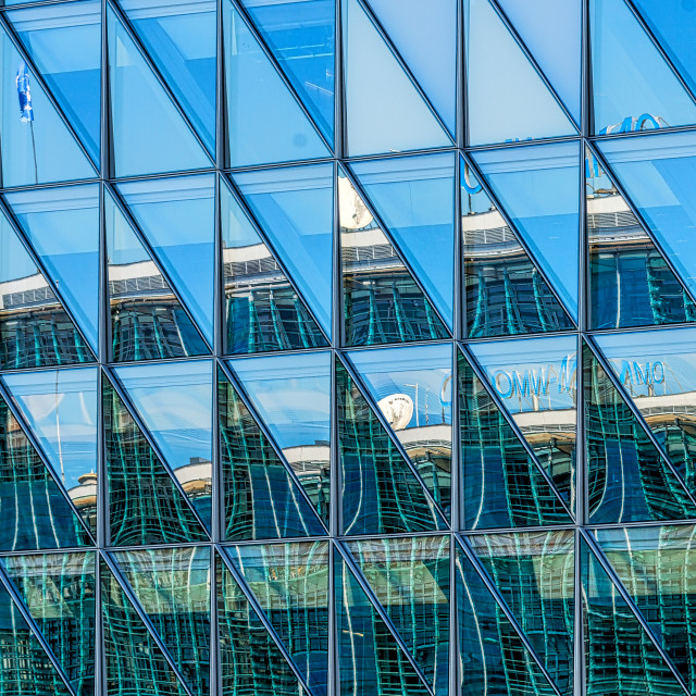 """""""Office Building Reflections 1"""" stock image"""