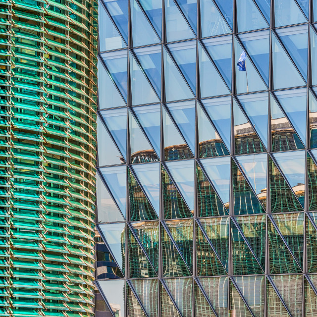 """""""Office Building Reflections 2"""" stock image"""
