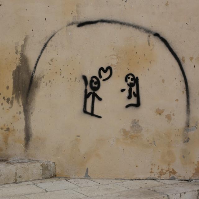 """Sicillain Graffiti"" stock image"