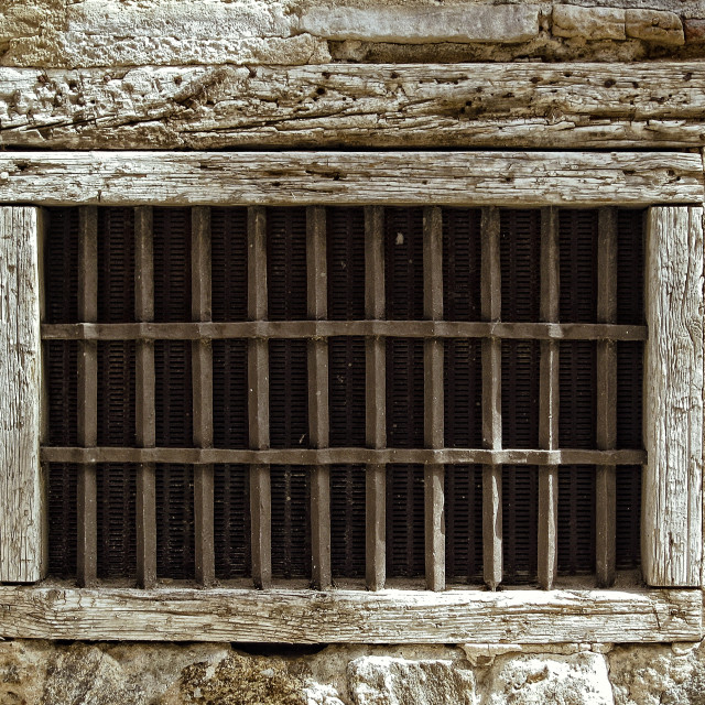 """""""Grilled window"""" stock image"""