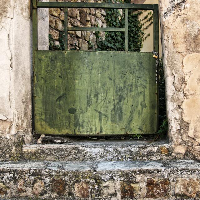 """""""Old metal door"""" stock image"""