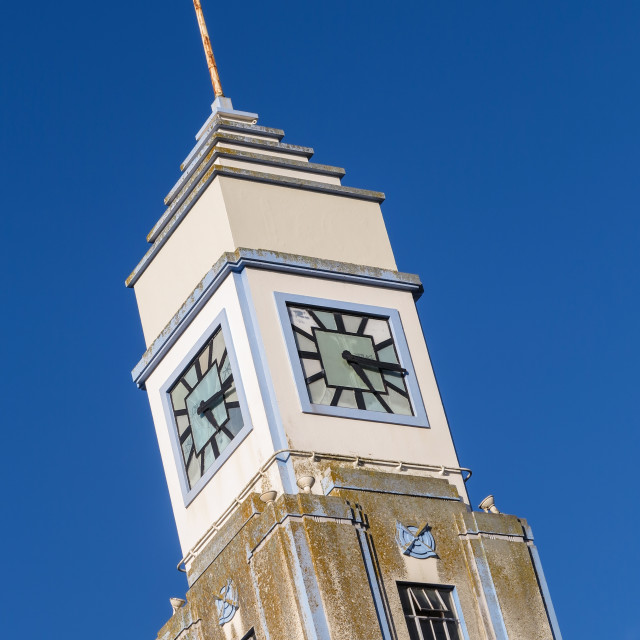 """Clock tower detail"" stock image"