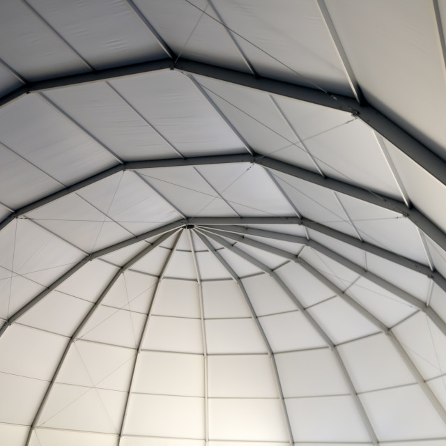 """""""The Ceiling of the Truss Structure at the Construction site"""" stock image"""