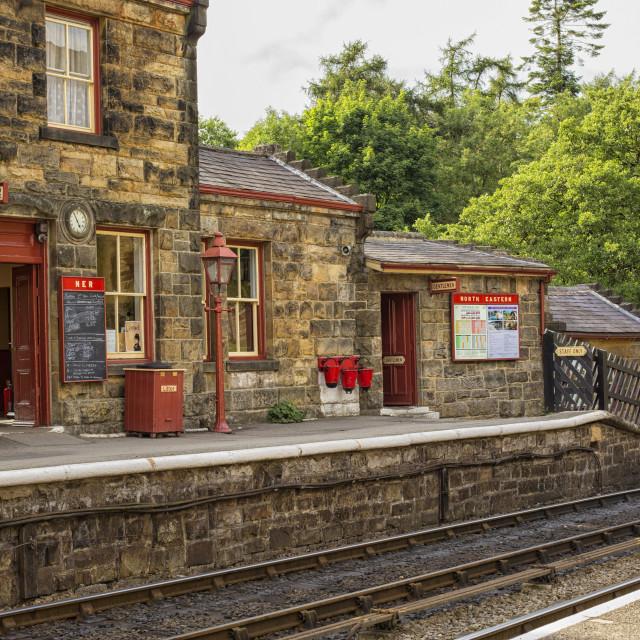 """""""Goathland railway station"""" stock image"""