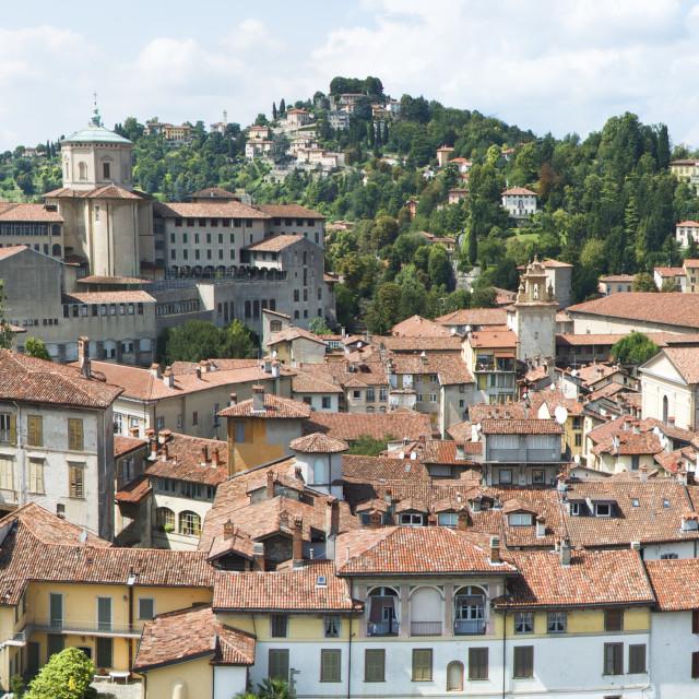 """Bergamo, Città alta,"" stock image"