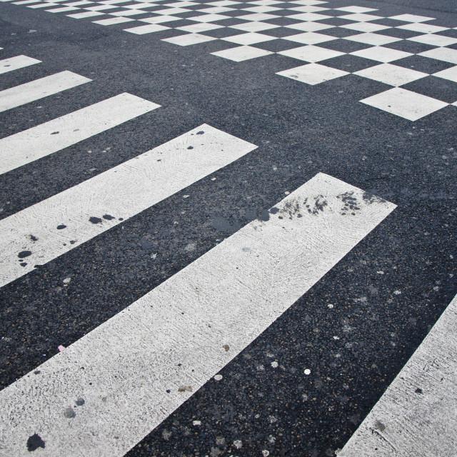 """Street zebra pattern"" stock image"