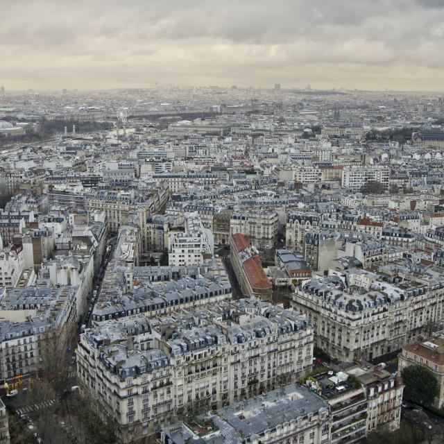 """bird's-eye view of Paris"" stock image"