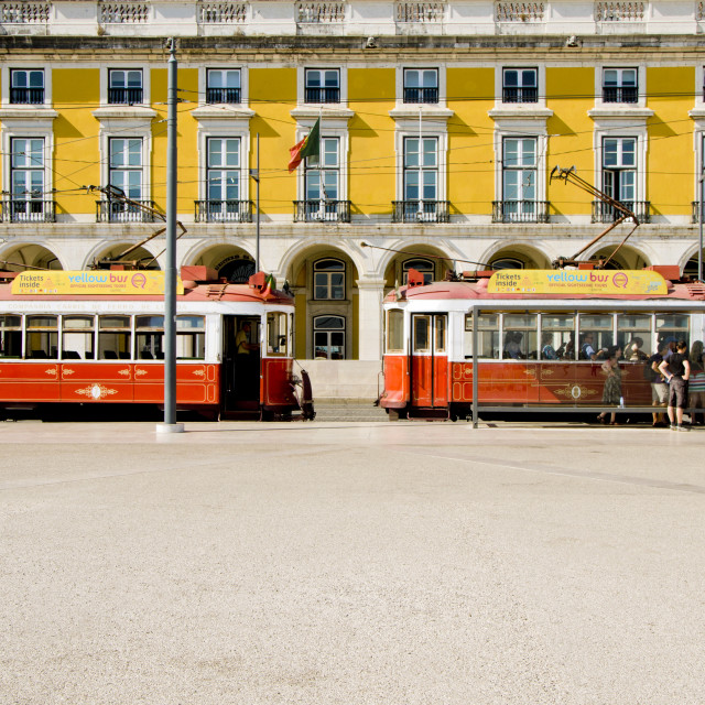 """Old electric trams"" stock image"
