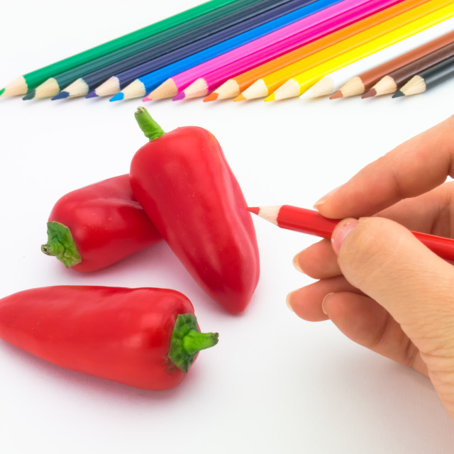 """Drawing Paprika"" stock image"