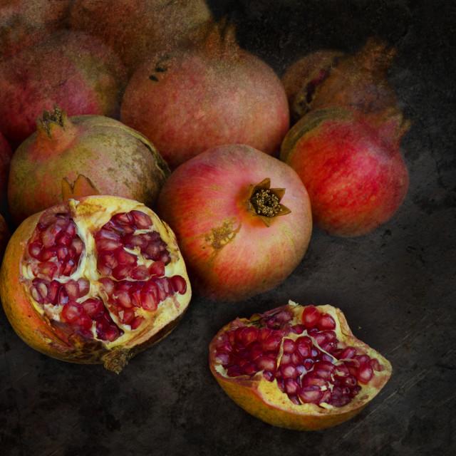 """Pomegranate harvest"" stock image"