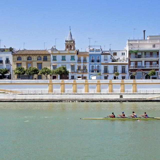 """Guadalquivir river in Seville"" stock image"