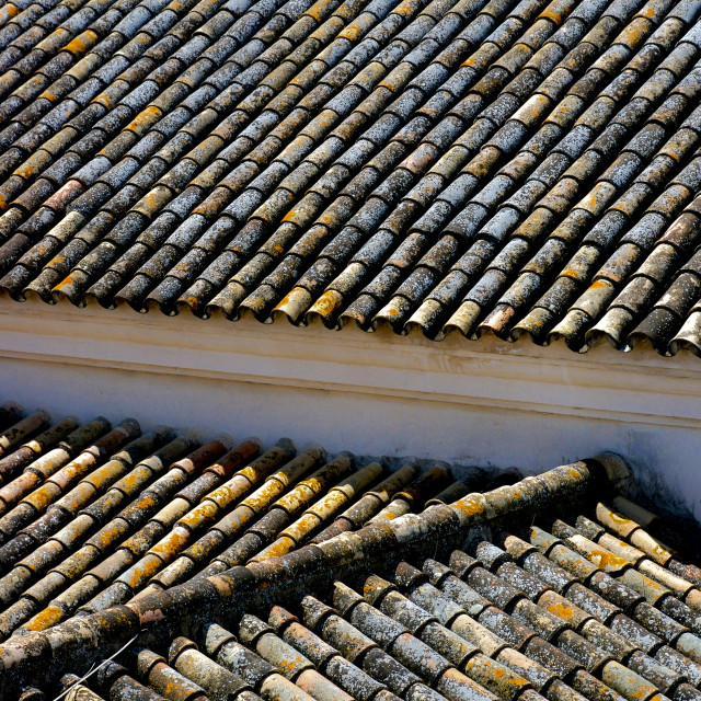 """Spanish rooftop"" stock image"