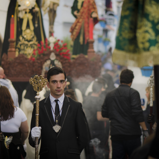 """Procession during Holy week Spain"" stock image"