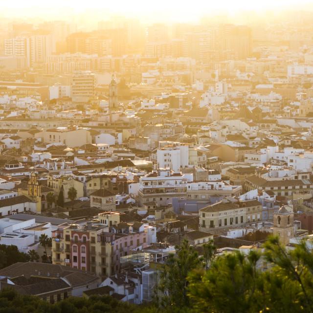 """Malaga City skyline"" stock image"