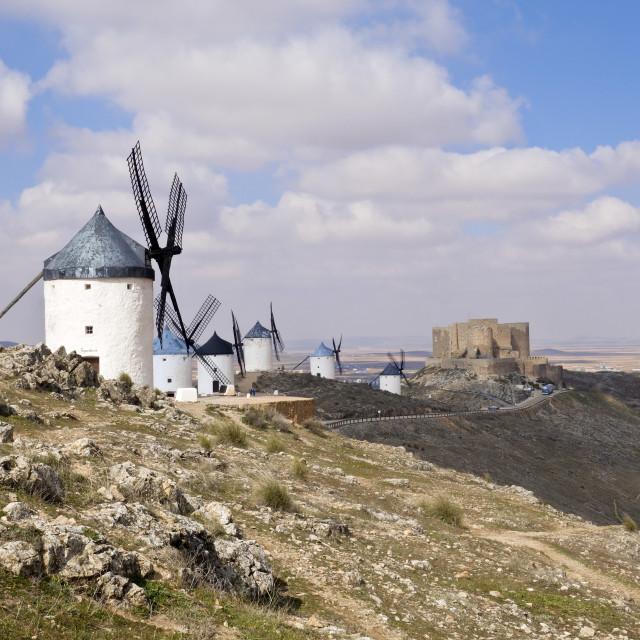 """Spanish Windmills"" stock image"