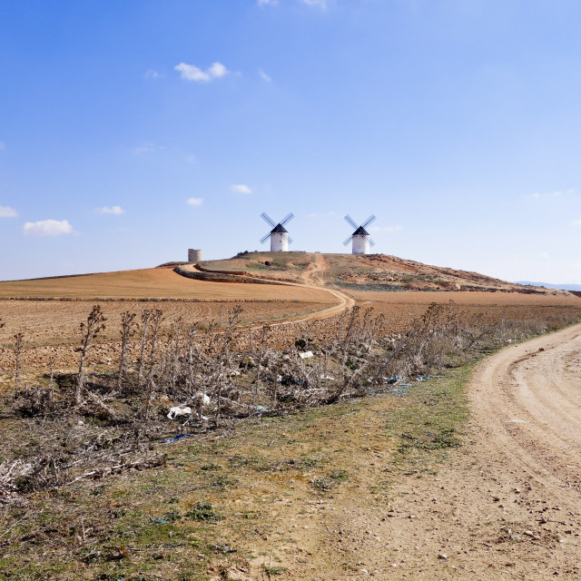 """Spanish Windmills"" stock image"