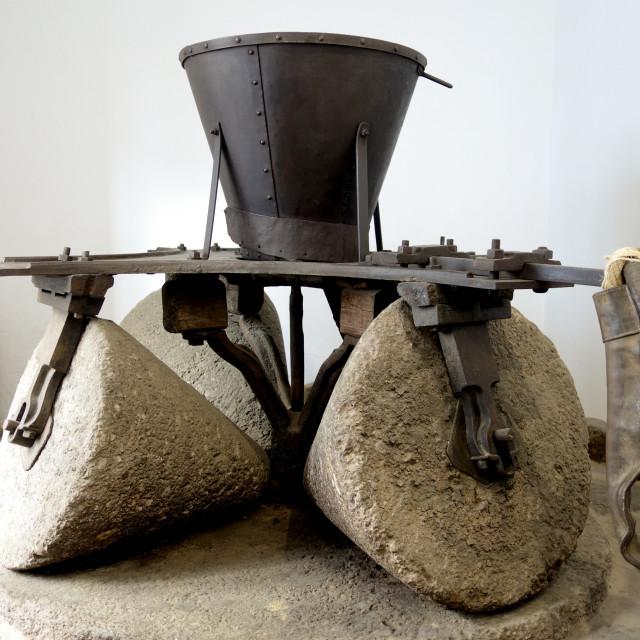 """""""Vintage Old olive press"""" stock image"""