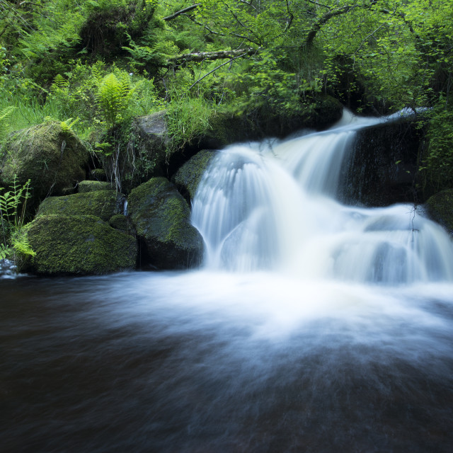 """Waterfall in the Peak District"" stock image"