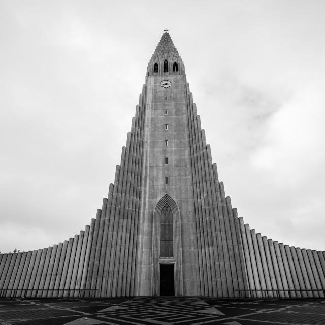 """Lutherian Church, Reykjavik"" stock image"