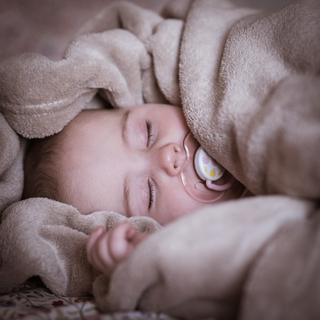 """Sleeping baby"" stock image"
