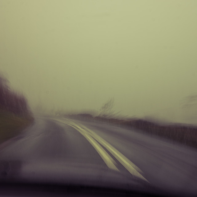 """Bleak driving"" stock image"