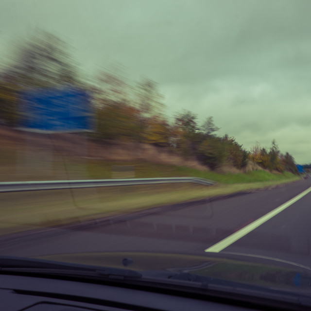 """Motorway travelling"" stock image"