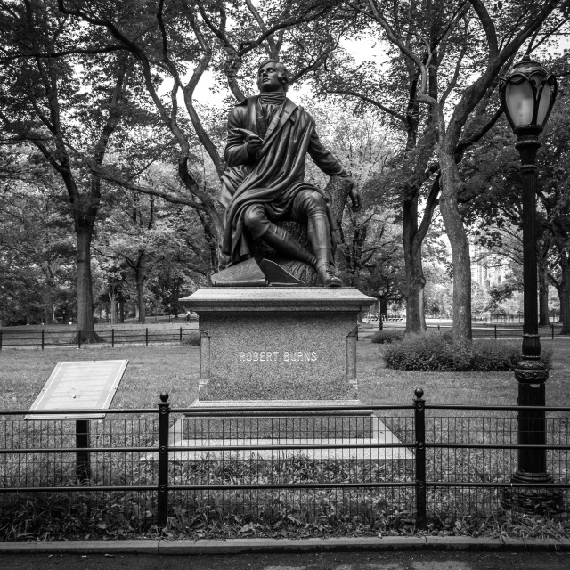 """Central Park statue"" stock image"