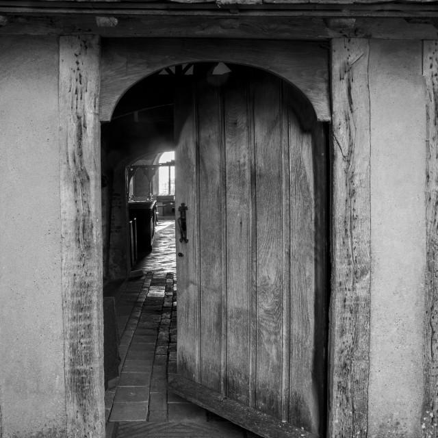 """""""The Open Door"""" stock image"""