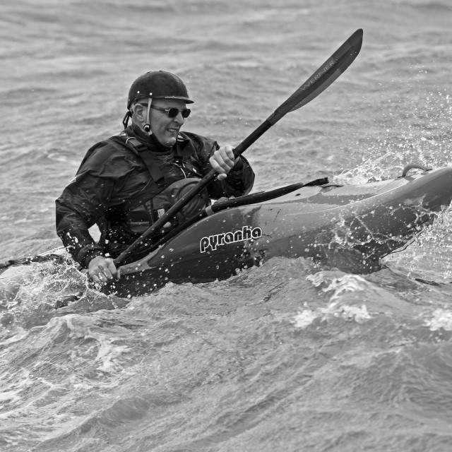 """""""Kayak Rider"""" stock image"""