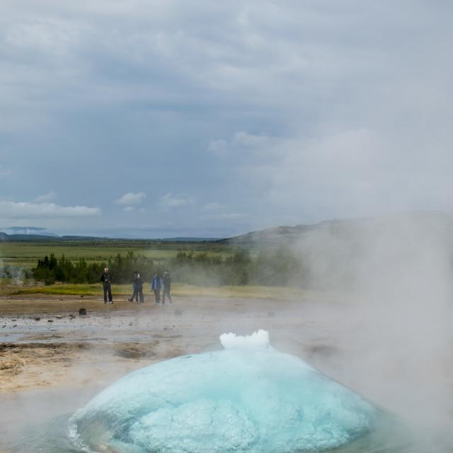 """Iceland Geyser"" stock image"