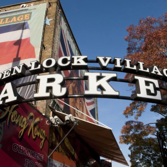 """Camden Market, London"" stock image"