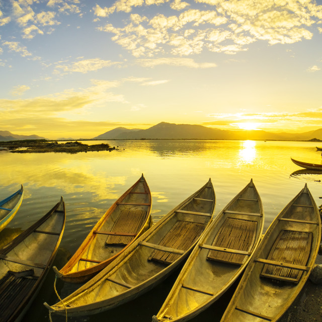 """sunsrise on Hon Thien Bay"" stock image"