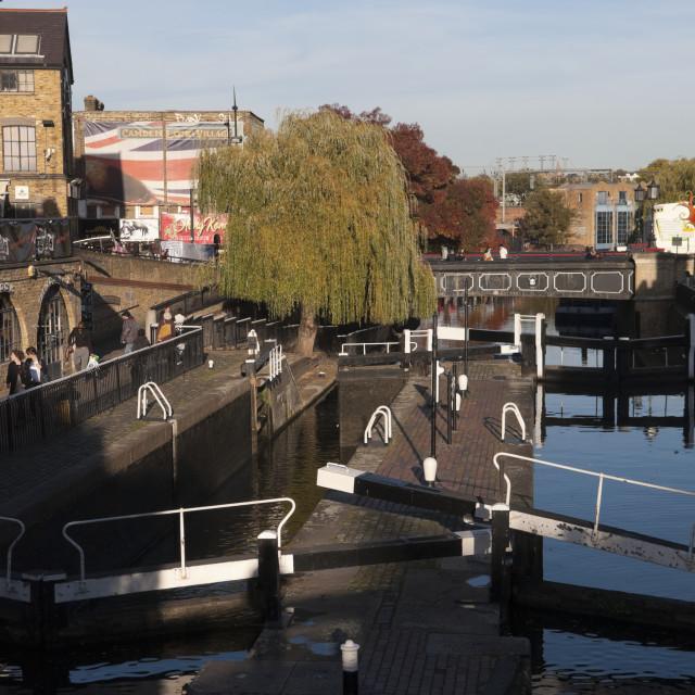 """Lock, Camden Market, London"" stock image"