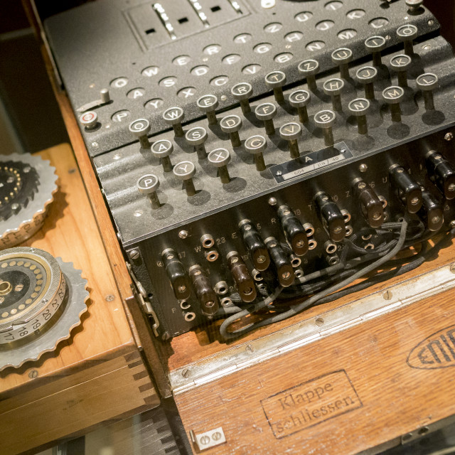 """Enigma Machine, Bletchley Park"" stock image"